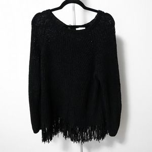 H&M black scoop neck knitted sweater sz small